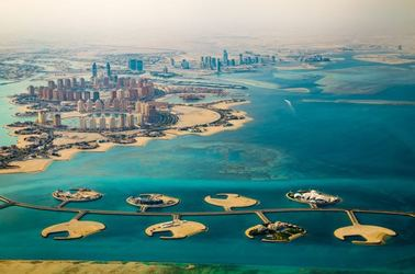 Aerial view of Doha, capital of Qatar