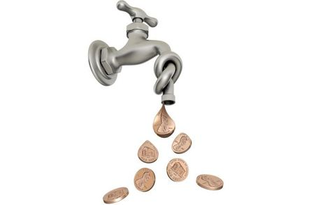 Spigot dribbling coins