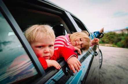 driving angry kids to school