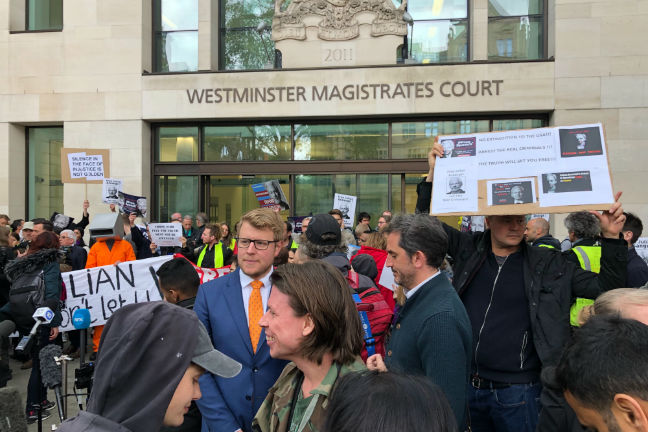 'I do not wish to surrender' Julian Assange tells court over US extradition bid