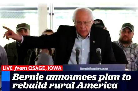Bernie on the campaign trail