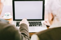 older people use laptop