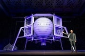 Blue Origin founder Jeff Bezos reveals the Blue Moon lander