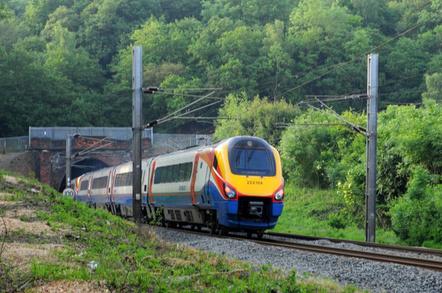 Train enters tunnel