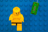 baby from nirvana album cover - playmobil/lego minifig