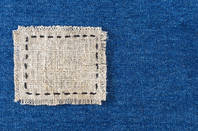A patched piece of denim from Shutterstock