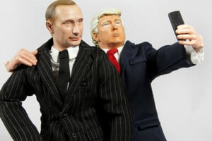 Trump putin selfie by Willrow Hood image via Shutterstock