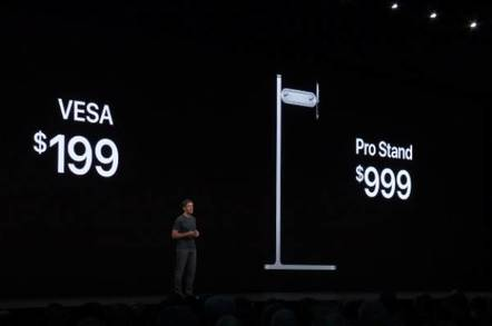 Apple strips clips of WWDC devs booing that $999 monitor stand from