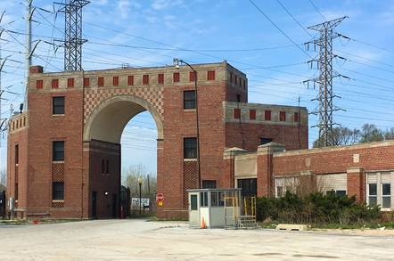 Gate to the State Line Generating Facility