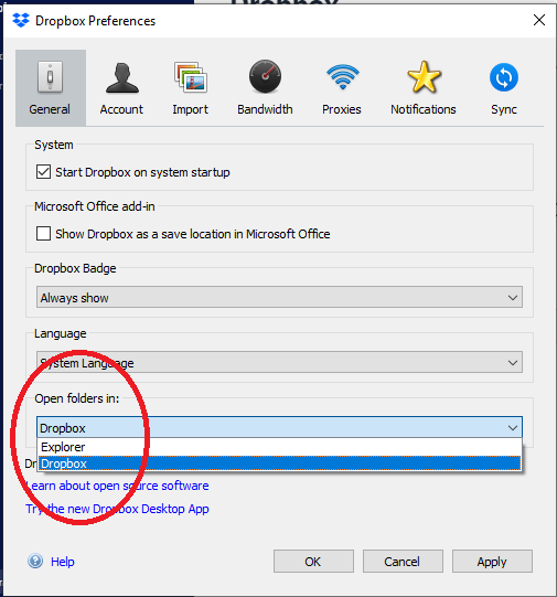 If you do not want the potentially intrusive new Dropbox client, here is where you can hide it