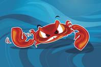 Angry crab cartoon