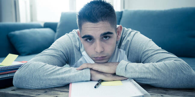 A sad young man from shutterstock