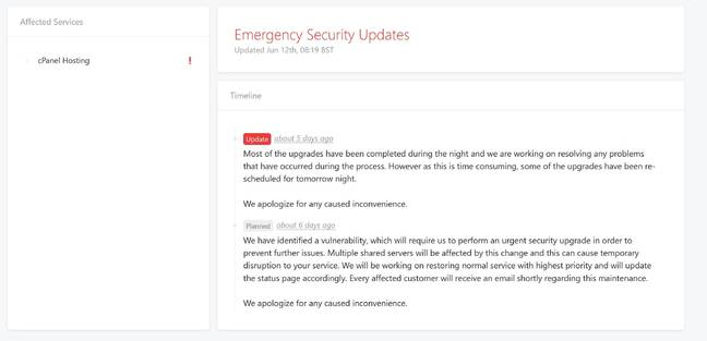 tsoHost Emergency Security Update