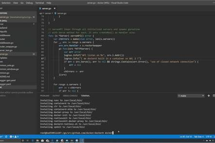 Visual Studio code with Docker and remoting to Windows Subsystem for Linux 2