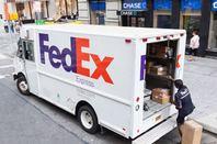 FedEx truck in Manhattan