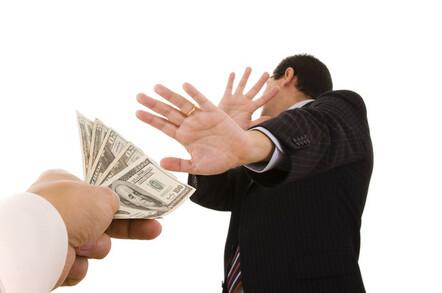business type refuses money