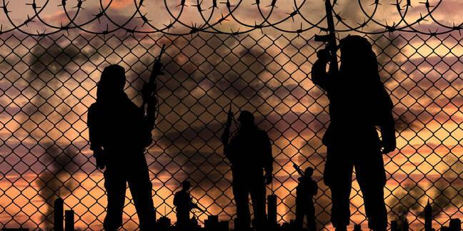 Illustration of terrorists