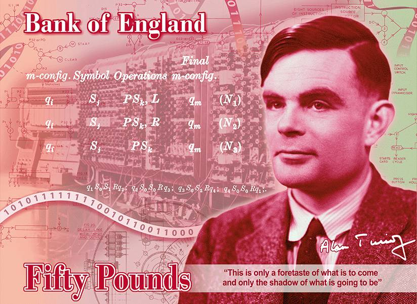 Alan Turing to be face of new British banknote