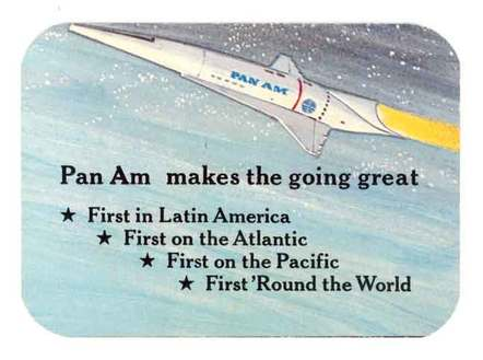 Pan Am ticket to the moon (back) 1969