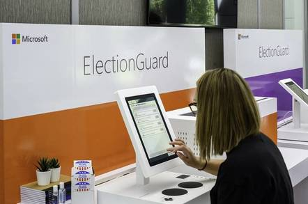 Microsoft's ElectionGuard electronic voting system