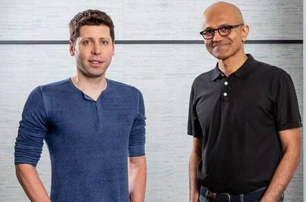 Sam Altman, CEO of OpenAI, and Microsoft CEO Satya Nadella