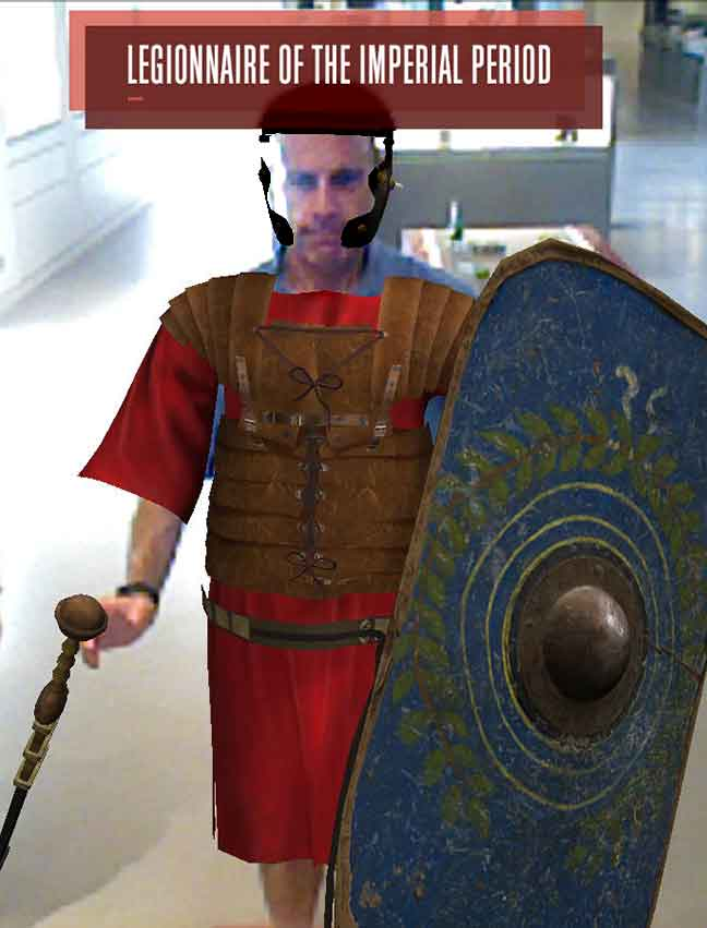Photo of Dabbsy as a VR Roman legionary