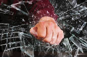 Smashing a window with your fist