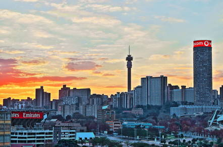The Johannesburg skyline