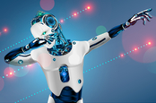 A robot dabbing