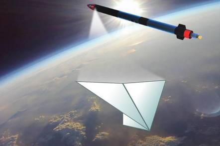 MOMO-F4 releasing a paper aeroplane (credit: Interstellar Technologies)