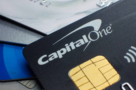 Capital One bank card from Shutterstock