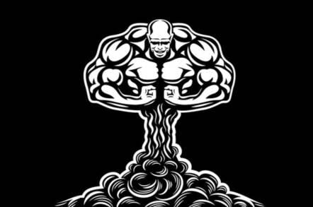 musclebound cloud illustration
