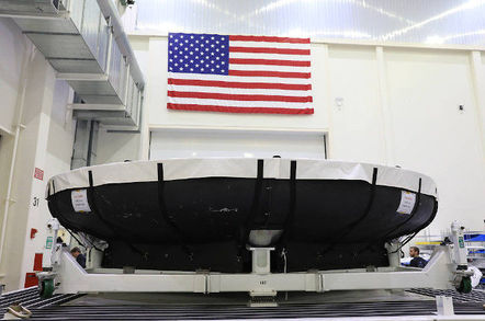 The state-of-the-art heat shield, measuring roughly 16 feet in diameter, which will protect astronauts upon re-entry on the second mission of Artemis, arriving in July at Kennedy Space Center in Florida for assembly and integration with the Orion crew module. Artemis 2, the first crewed mission in the series of missions to the Moon and on to Mars, will confirm all of the spacecraft's systems operate as designed in the actual environment of deep space with astronauts aboard.