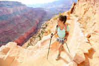 Hiking on the Arizona side of the Grand Canyon