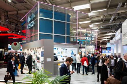 A Cisco trade show booth
