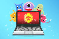 Some cartoon malware in a computer