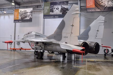 @planedailymag  shot of Paul Allen's MiG-29. Pic credit: @planedailymag