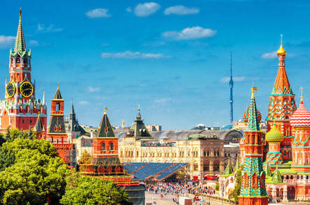 Red Square and the Kremlin in Moscow