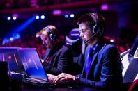 MOSCOW, RUSSIA: Steam-sponsored Dota 2 esports event. English casters play GoDz and Toby