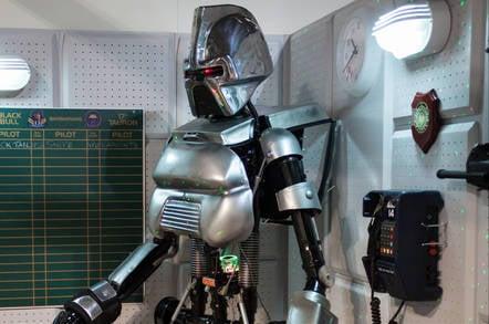 A robot from Battlestar Galactica