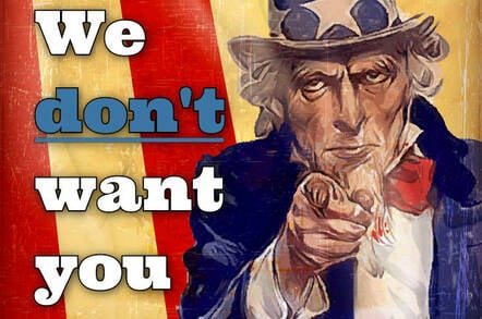 Uncle Sam says: I don't want you