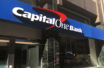 The front of a Capital One Bank
