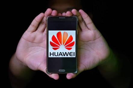 Huawei logo on a phone