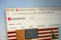 The Overstock logo and website