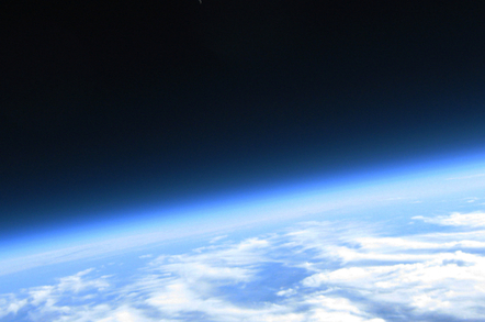 Curvature of the earth from a high altitude balloon flight