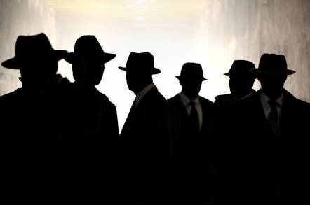 Government agents in the shadows
