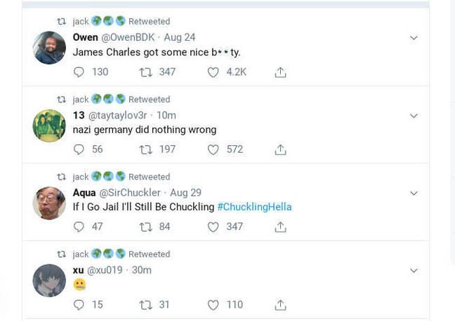 Jack Dorsey's hacked feed