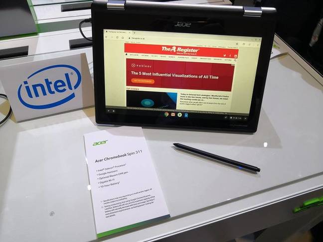 The Acer Chromebook Spin 311 has a 360° hinge and an optional stylus