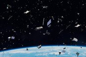 Space debris in Earth orbit