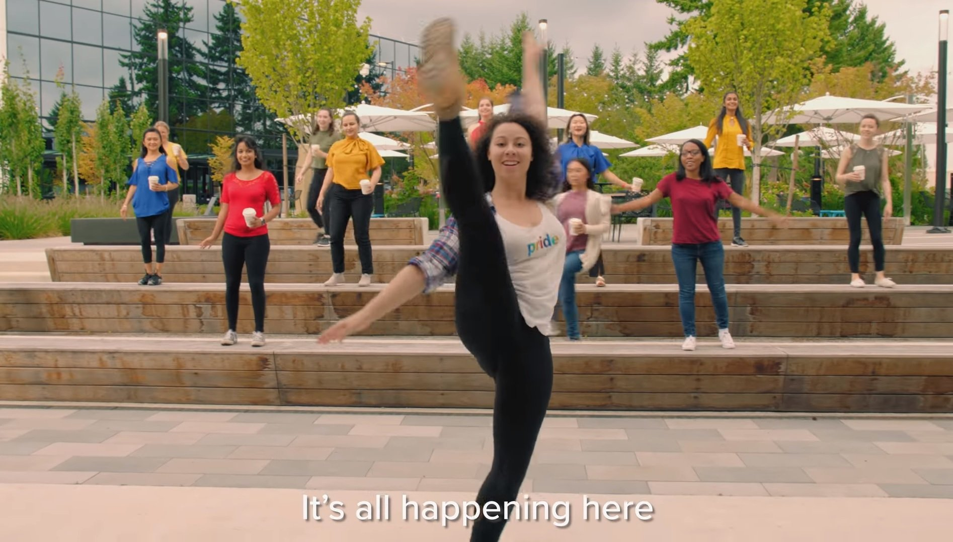 D'aw! They still have hope! Interns make a song and dance of their summer at Microsoft